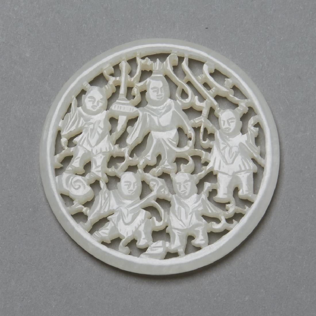 Chinese Guangxu/Republic Period White Jade -BTC Acpt - 2