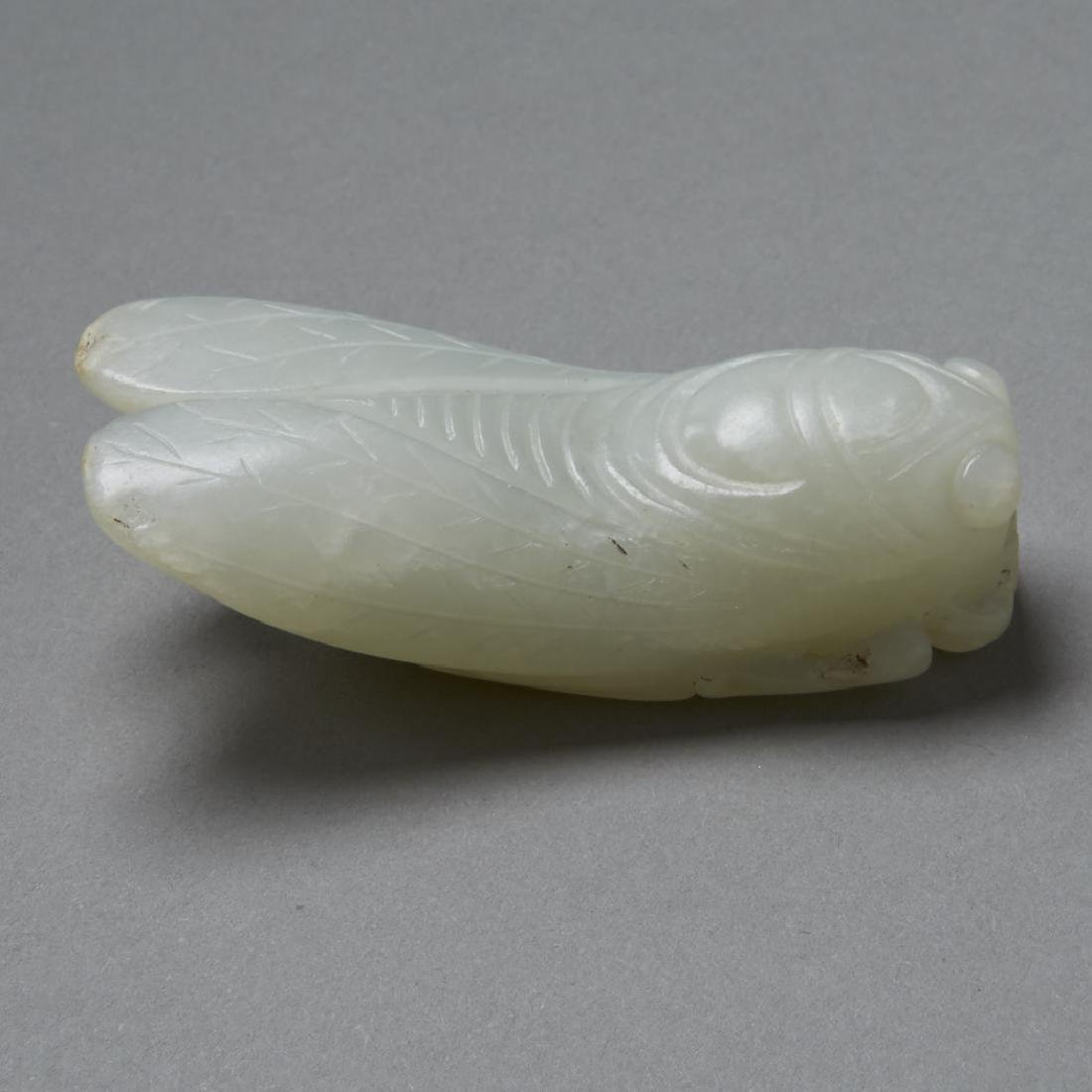 Mid-Qing Chinese green-white Jade Pendant - BTC Acpt - 2