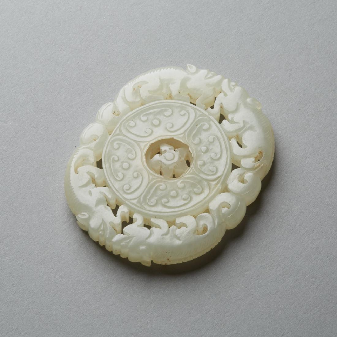 Chinese Qing Jade Buddhist Prayer Wheel Bi - BTC Acpt