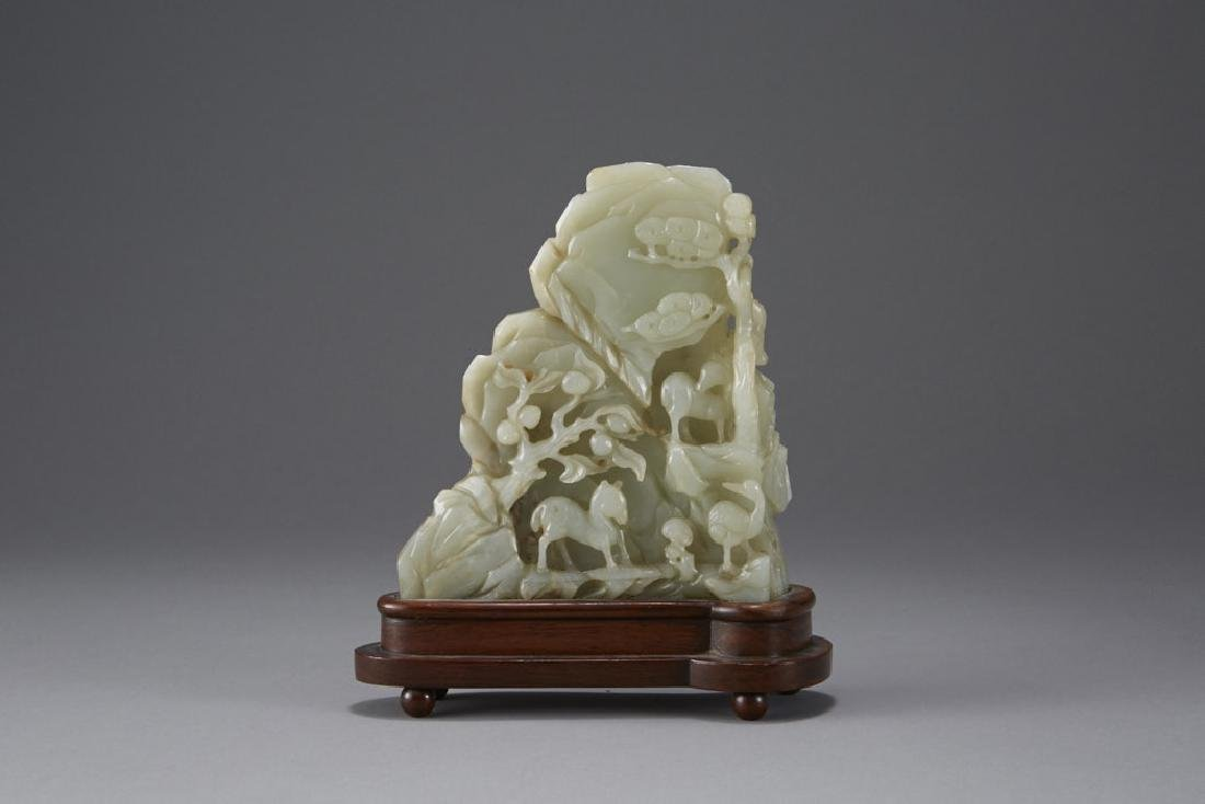 Chinese Carved Jade Mountain - Well Provenanced - 2