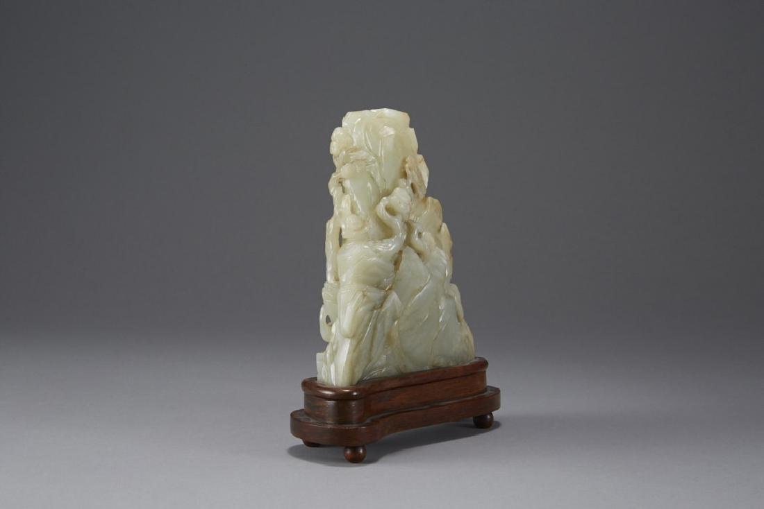 Chinese Carved Jade Mountain - Well Provenanced - 5