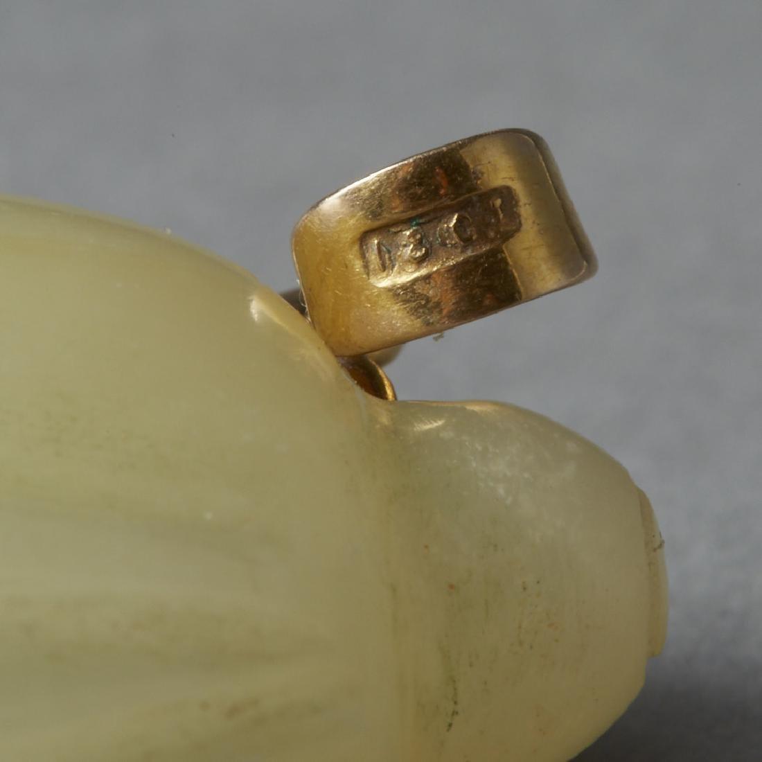 Chinese Guangxu Hardstone e Cicada 18ct Gold - BTC Acpt - 4