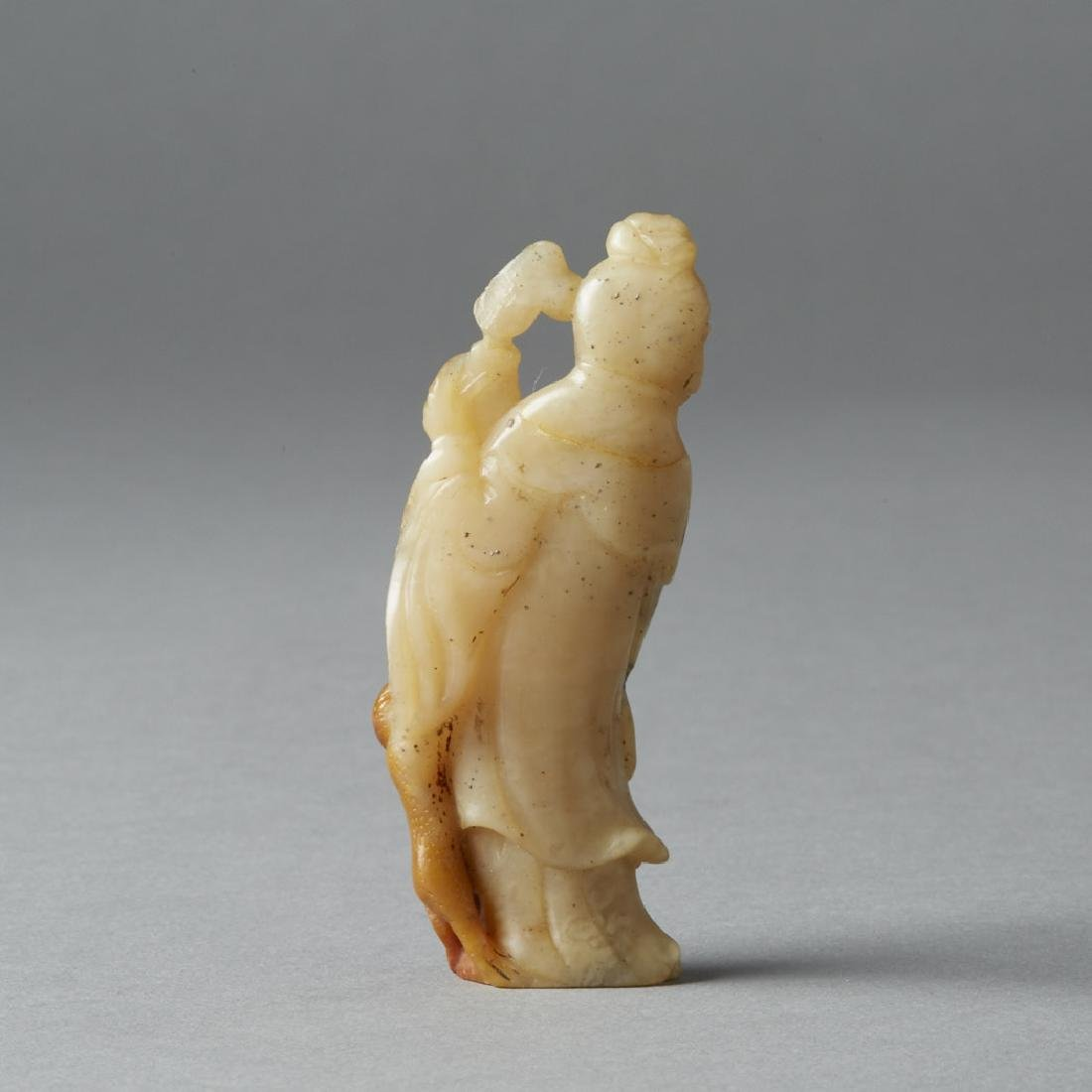 Chinese Qing Soapstone Carving Maiden - BTC Acpt - 4