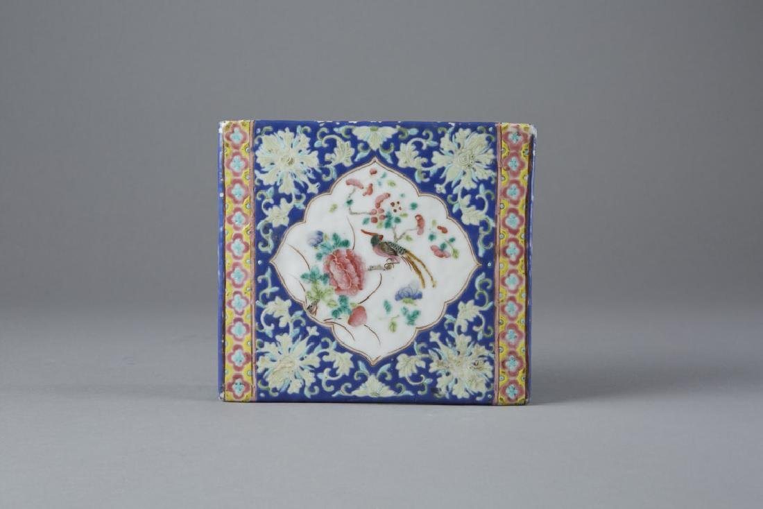 Chinese Porcelain Famille Rose Pillow, Guangxu