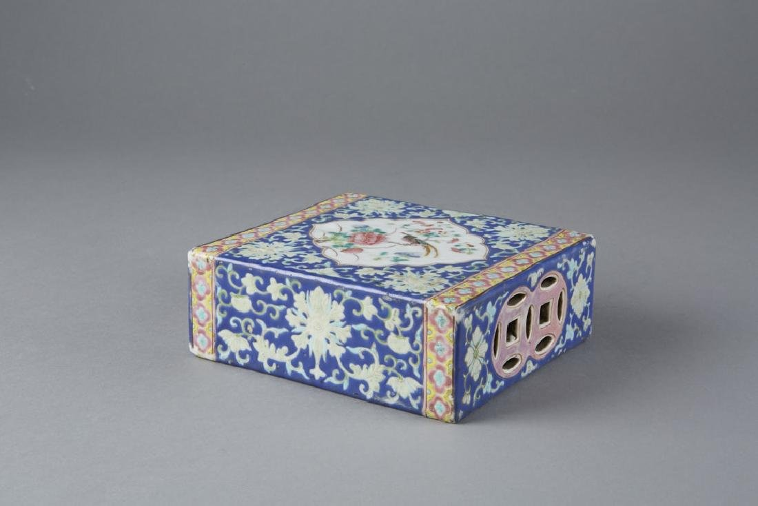 Chinese Porcelain Famille Rose Pillow, Guangxu - 3