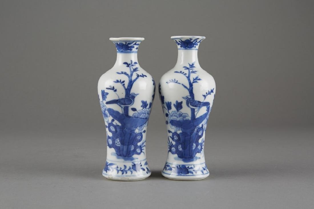 Chinese Kangxi Export Porcelain Pair of Vases