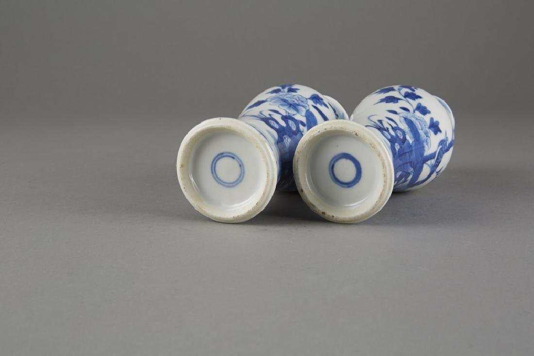 Chinese Kangxi Export Porcelain Pair of Vases - 5