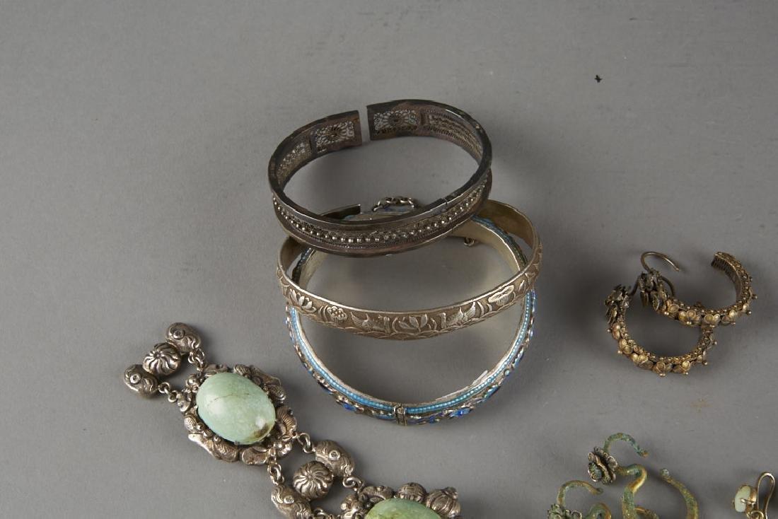 Chinese Silver&Jade Jewelry-Earrings Bracelets-BTC Acpt - 2