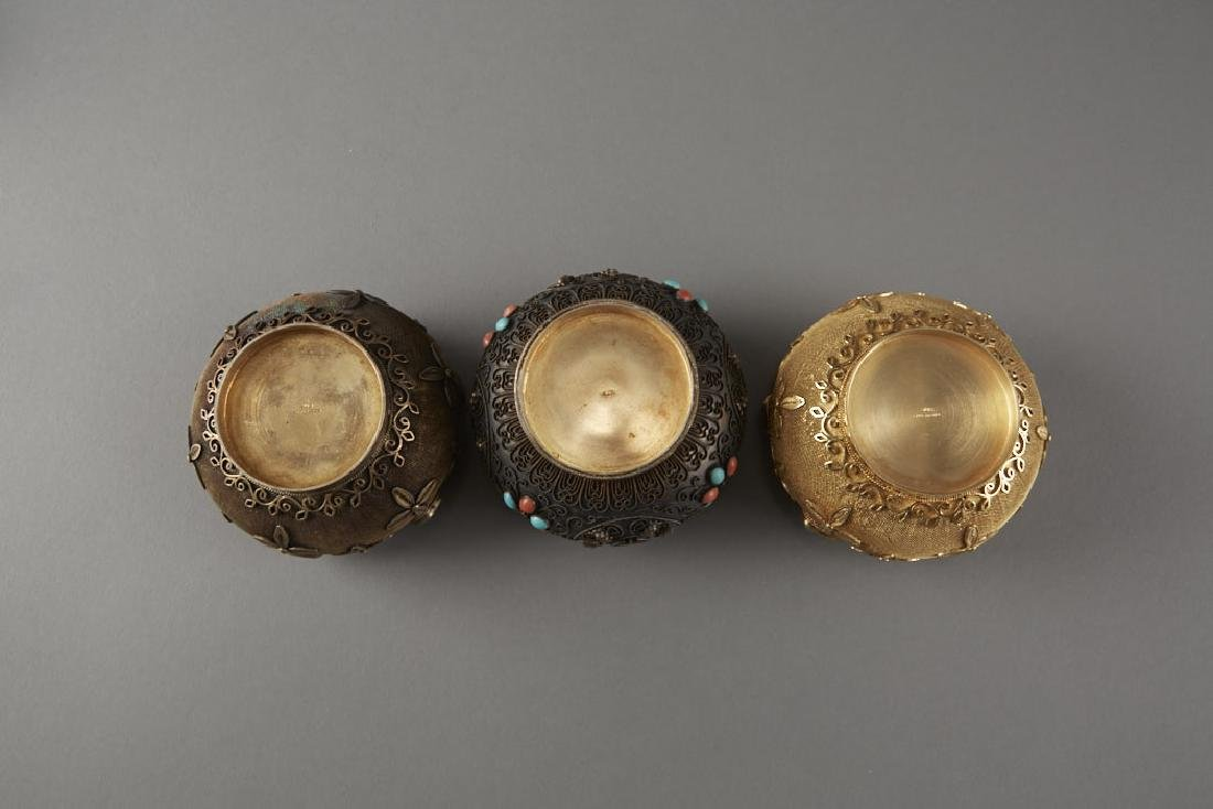 Chinese Enameled Silver Objects Inlay - 4