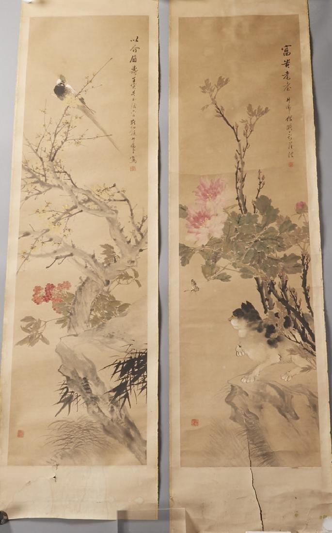 4 Chinese Scroll Paints. of Seasons: Zhao Ruhu-BTC Acpt