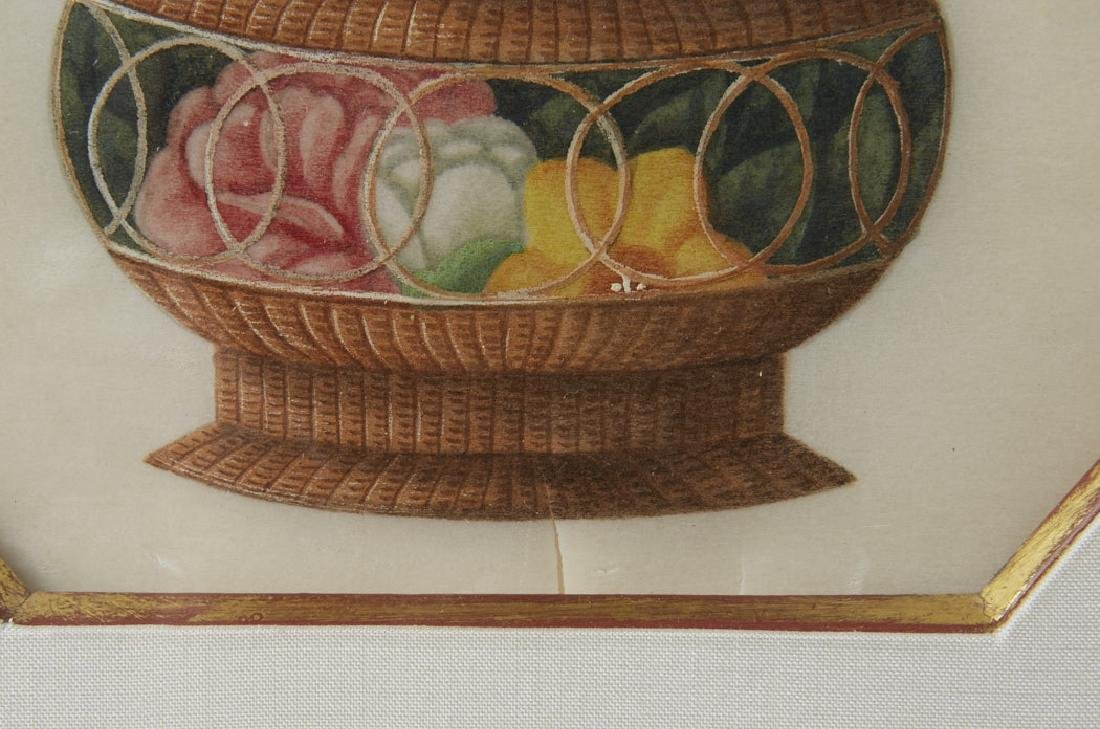 Pith Paper Paintings Baskets of Flowers by Sunqua - 6