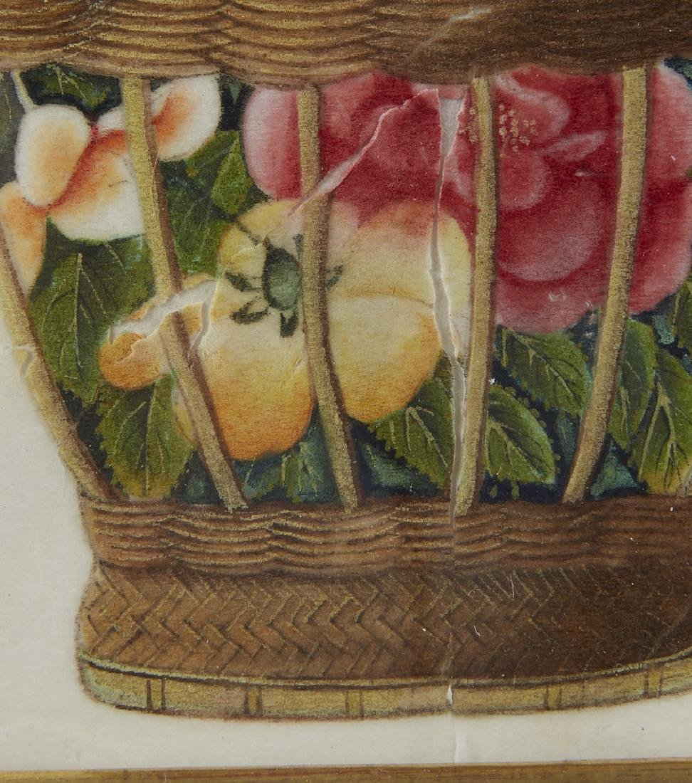 Pith Paper Paintings Baskets of Flowers by Sunqua - 7