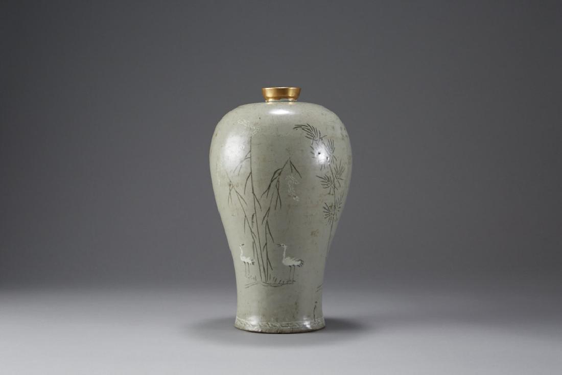 Korean Celadon Maebyong Vase Goryeo Dynasty