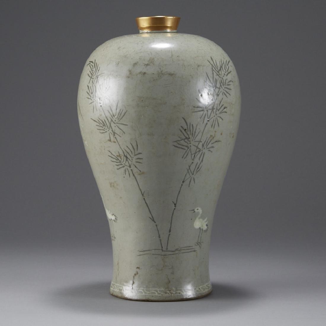 Korean Celadon Maebyong Vase Goryeo Dynasty - 2