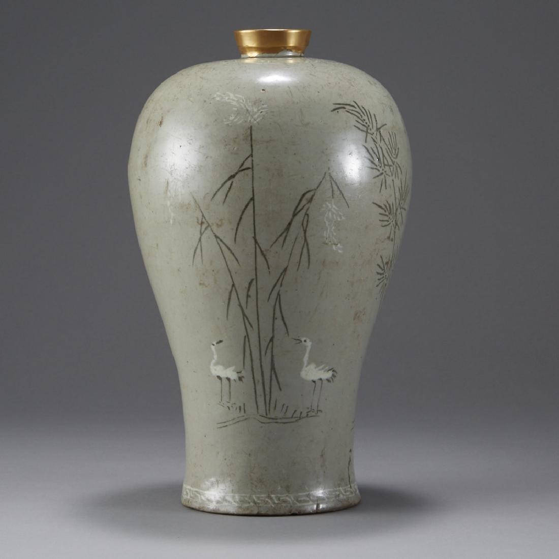 Korean Celadon Maebyong Vase Goryeo Dynasty - 3