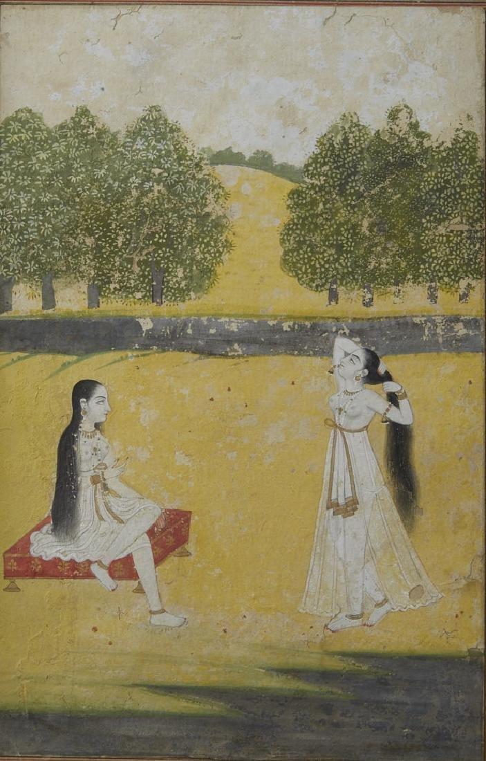 Indo Persian 17th C. Illuminated Deccan Mehra