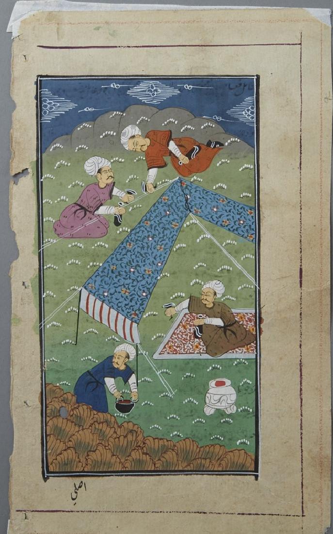 9 Matted Indo/Persian/Turkish Manuscripts