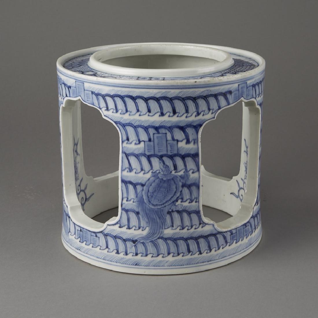 Japanese Meiji Porcelain Brazier Arita/Hirado-BTC Acpt