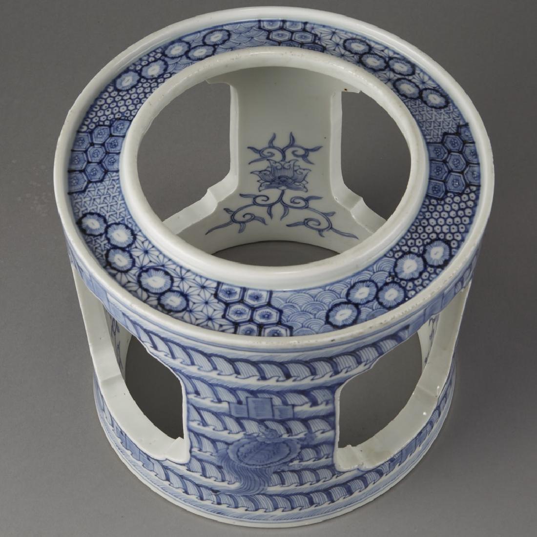 Japanese Meiji Porcelain Brazier Arita/Hirado-BTC Acpt - 2