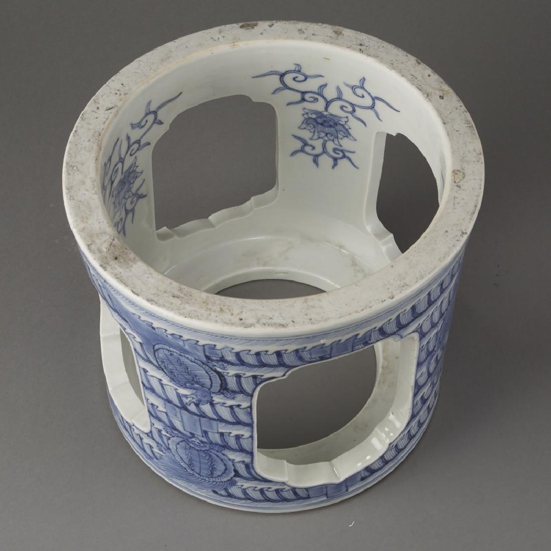 Japanese Meiji Porcelain Brazier Arita/Hirado-BTC Acpt - 3
