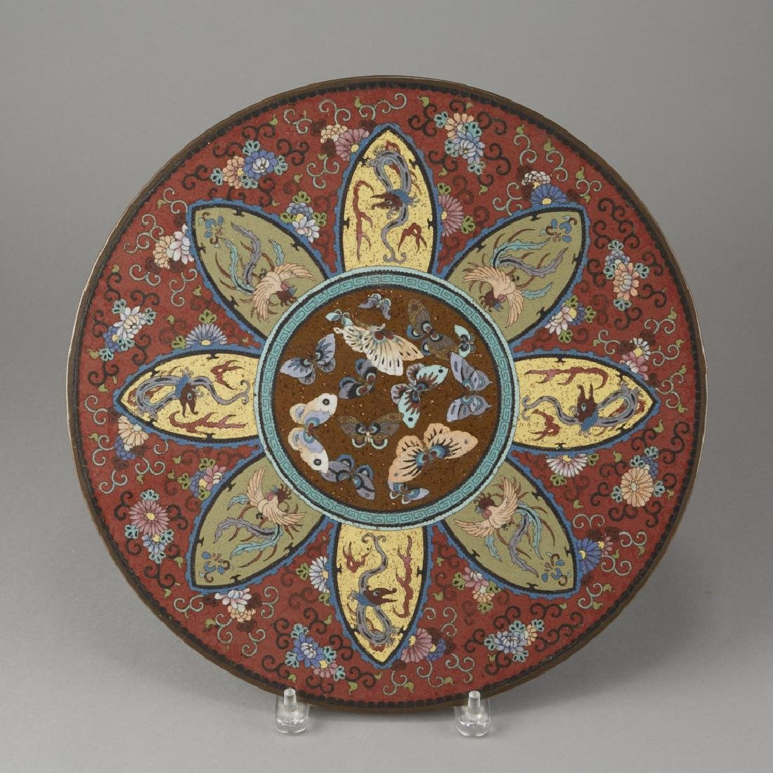 Japanese Meiji Cloisonne Plaque for a Table