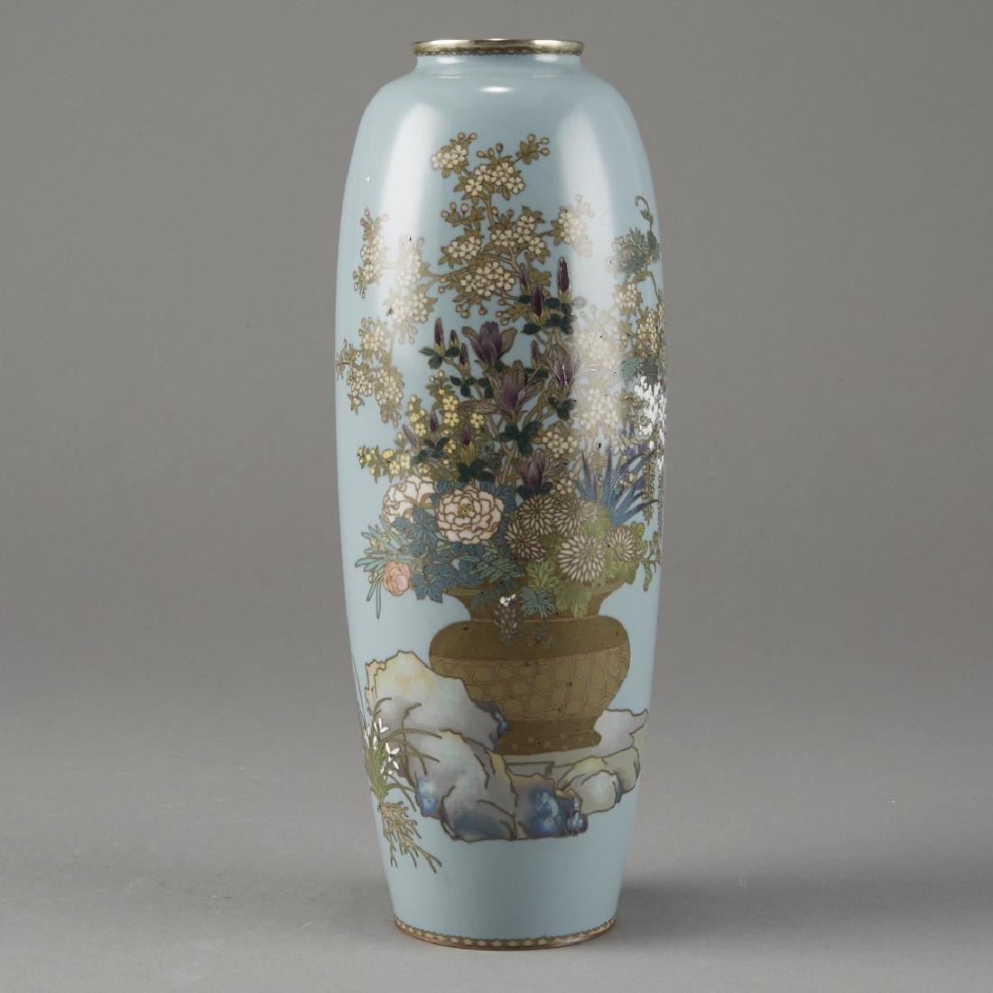 Japanese Cloisonne Vase after of Hayashi Kodenji