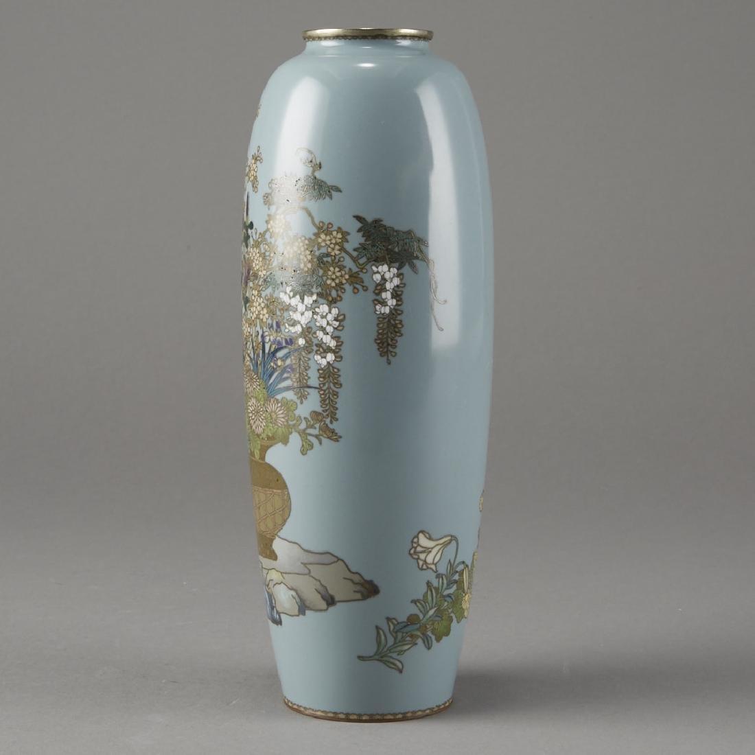 Japanese Cloisonne Vase after of Hayashi Kodenji - 2
