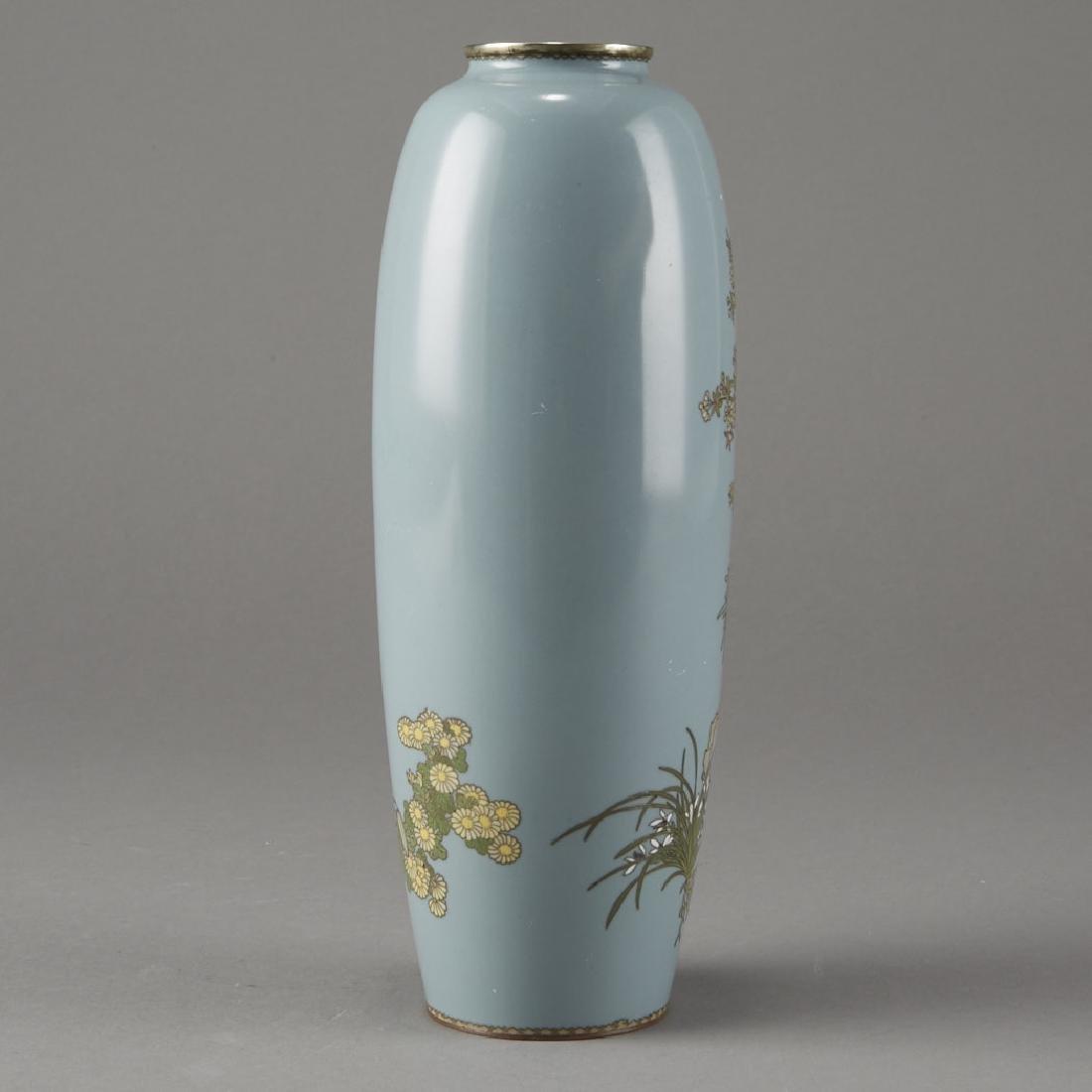Japanese Cloisonne Vase after of Hayashi Kodenji - 3