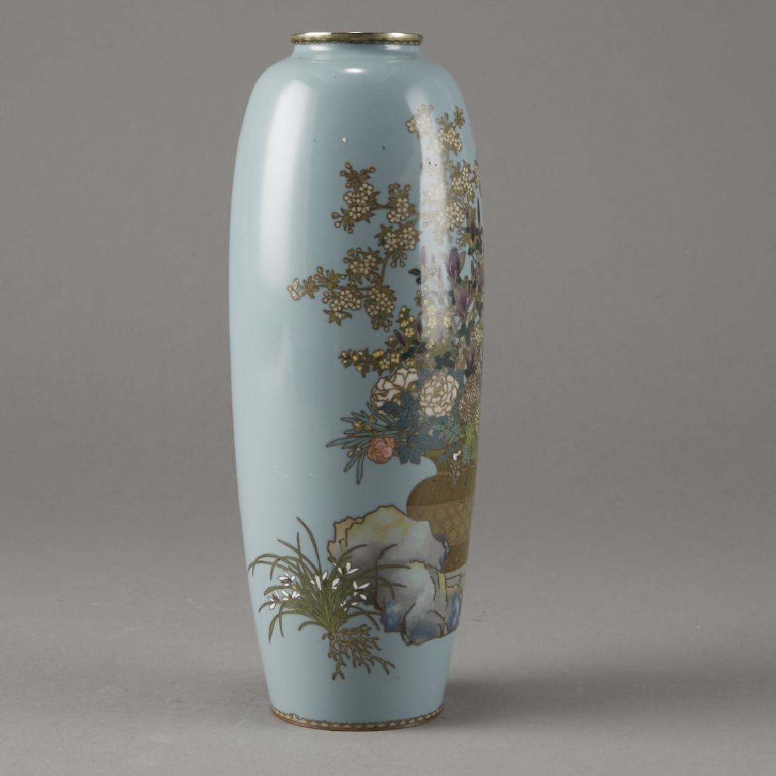 Japanese Cloisonne Vase after of Hayashi Kodenji - 4