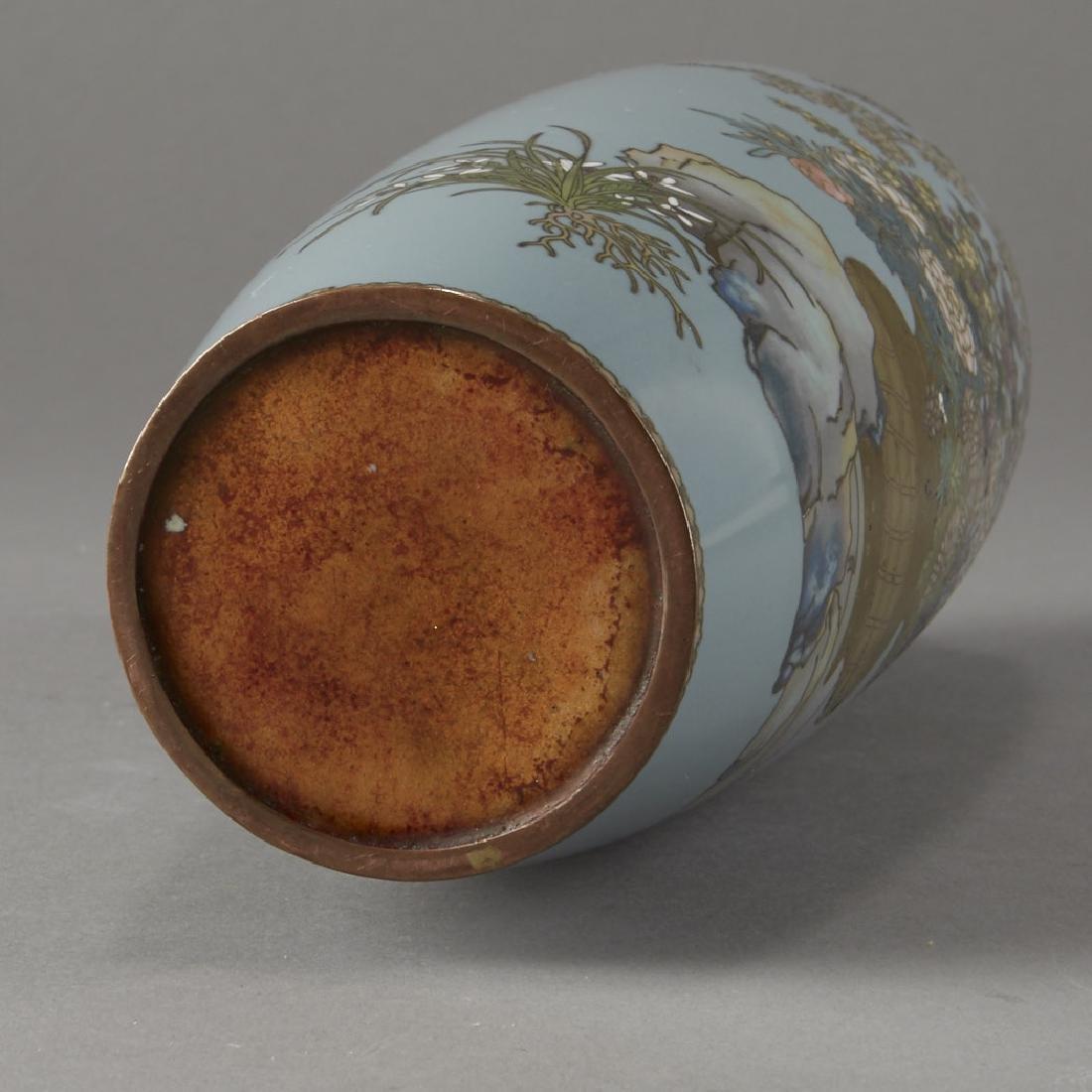 Japanese Cloisonne Vase after of Hayashi Kodenji - 5