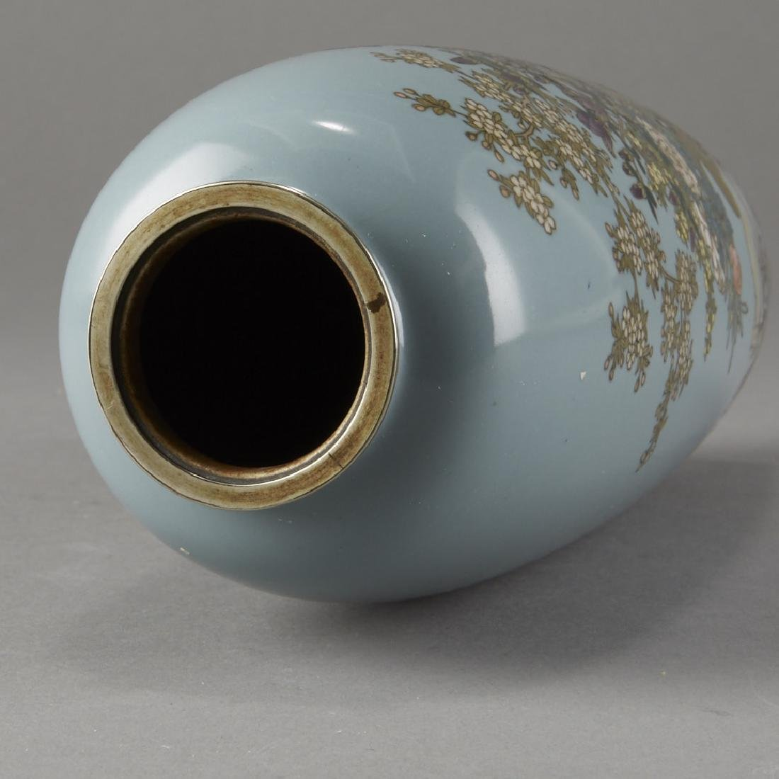 Japanese Cloisonne Vase after of Hayashi Kodenji - 6