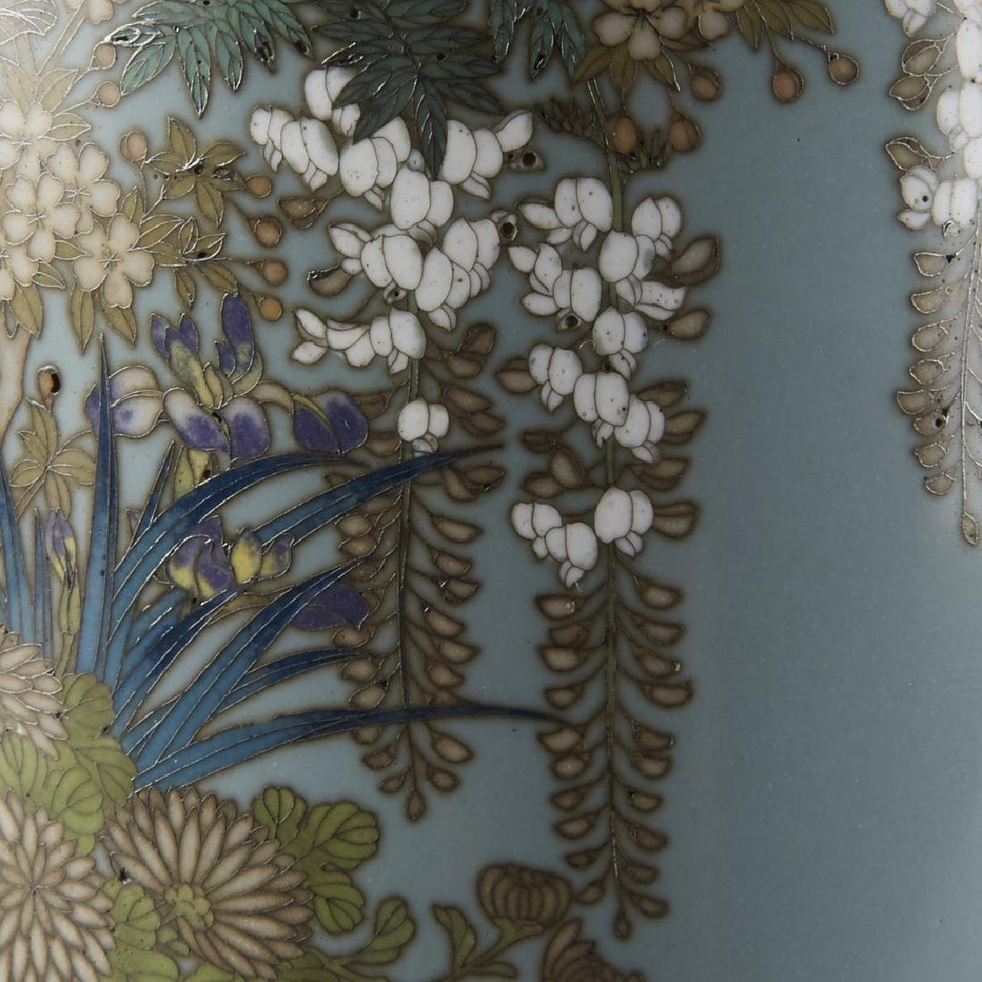 Japanese Cloisonne Vase after of Hayashi Kodenji - 7