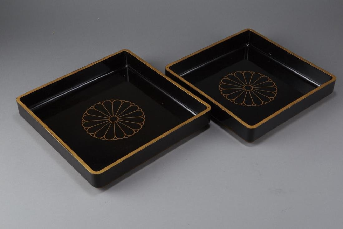 3 Pieces of Japanese 19th & 20th C. Lacquer - 10