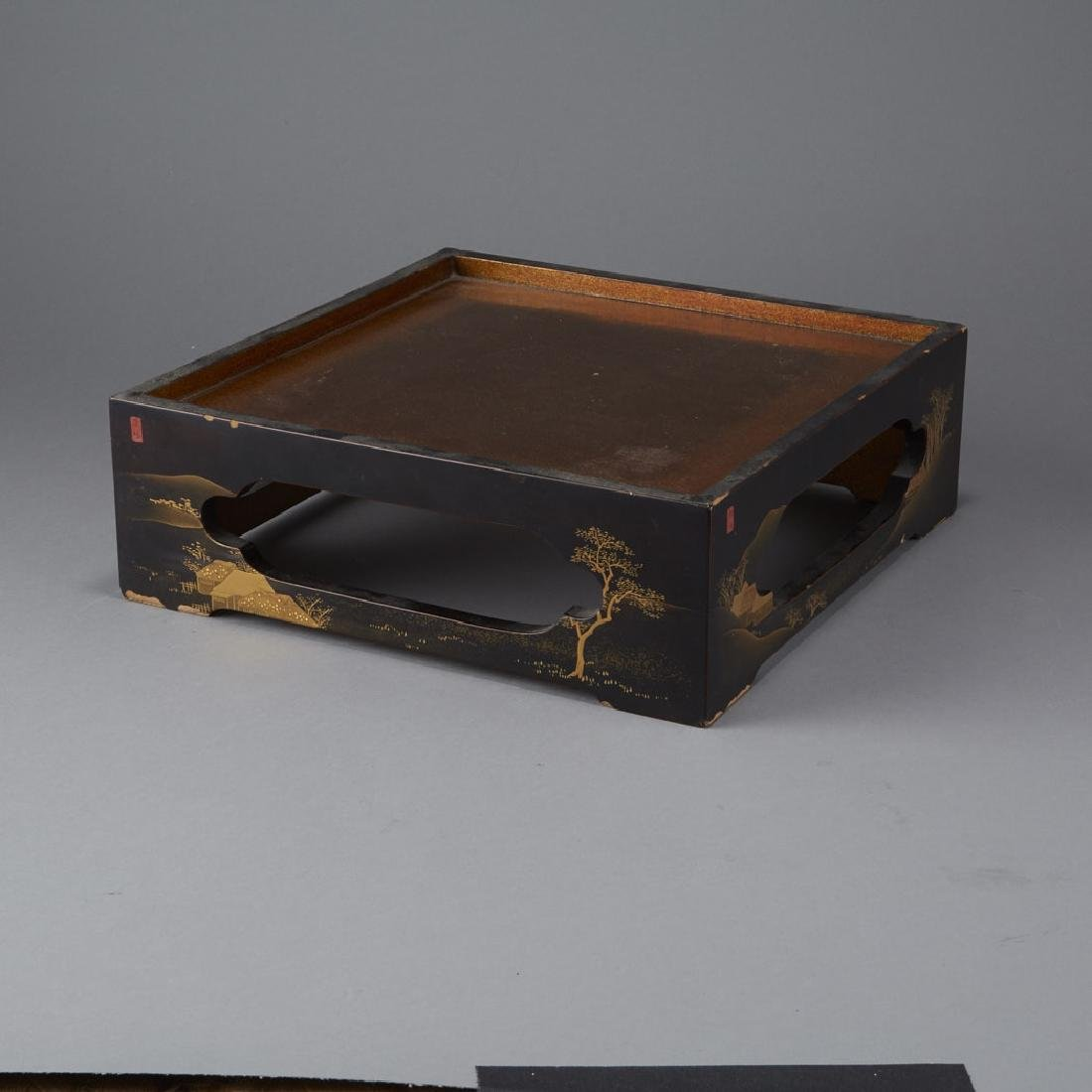 3 Pieces of Japanese 19th & 20th C. Lacquer - 6