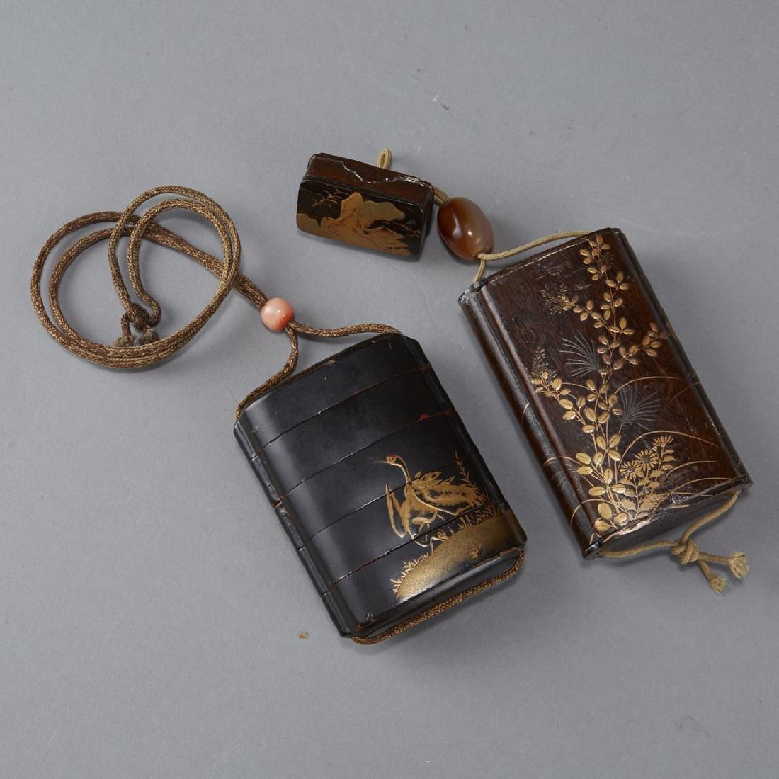 2 Edo Period Japanese Lacquer Inro - BTC Acpt