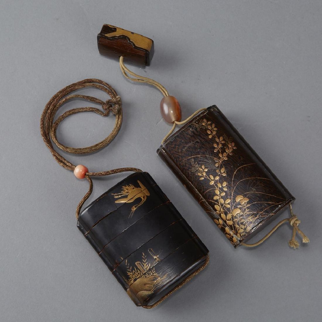 2 Edo Period Japanese Lacquer Inro - BTC Acpt - 2