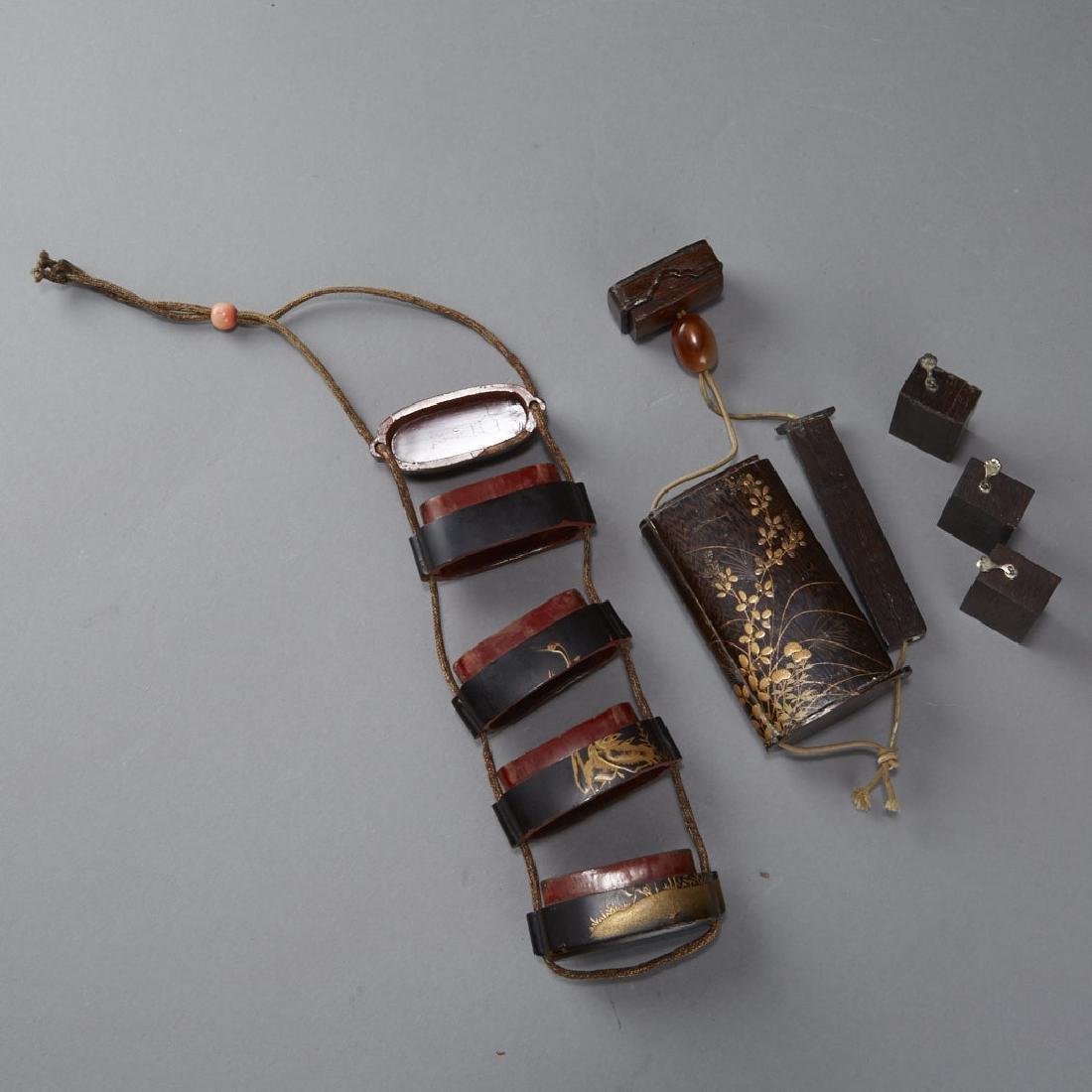 2 Edo Period Japanese Lacquer Inro - BTC Acpt - 3