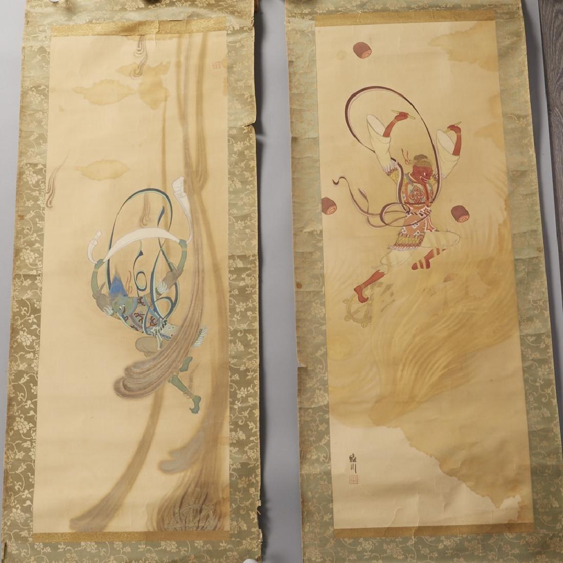 Japanese Scroll Paintings: Gods of Wind & Thunder