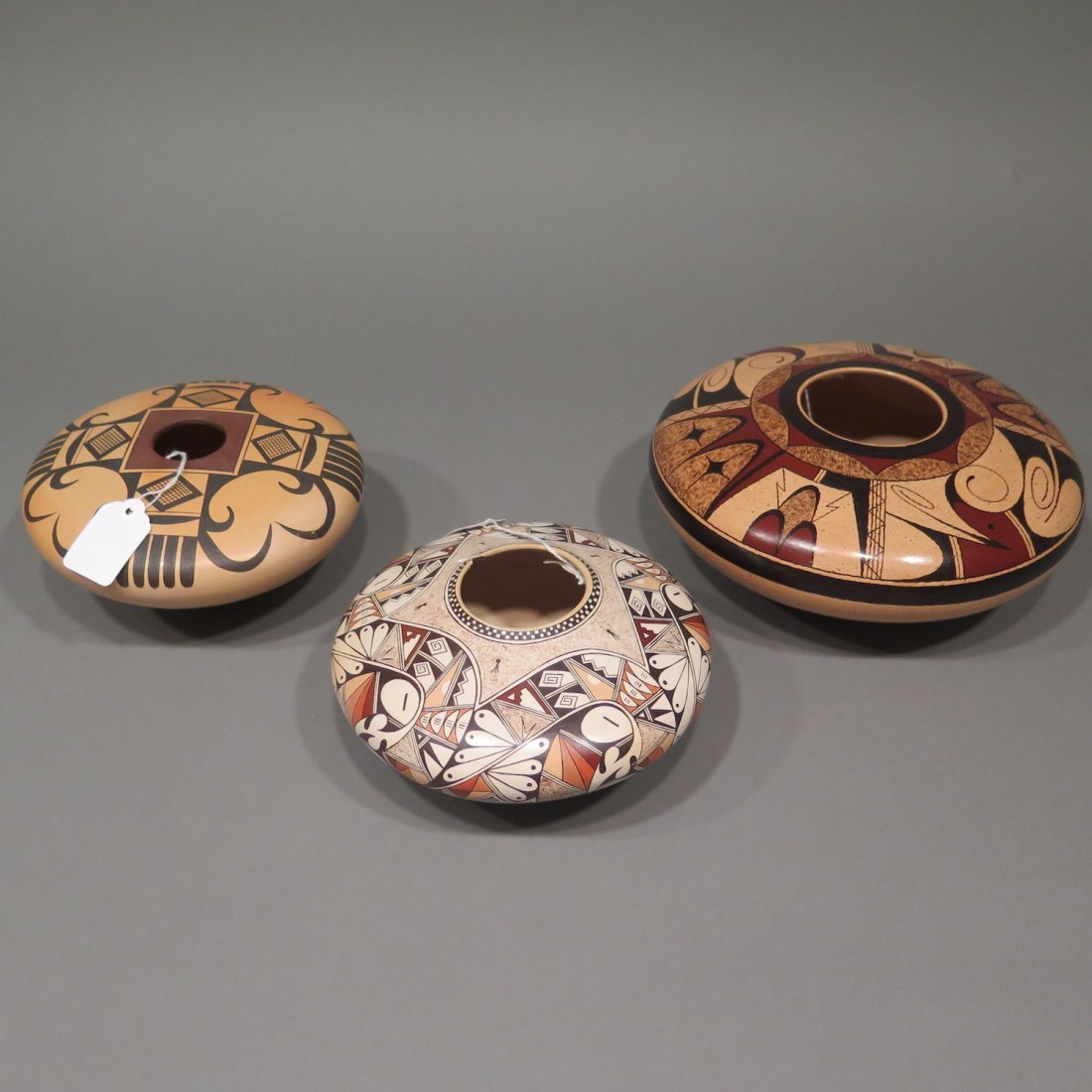 3 Fawn Navasie, Setalla, and Rainy Naha Hopi Pottery