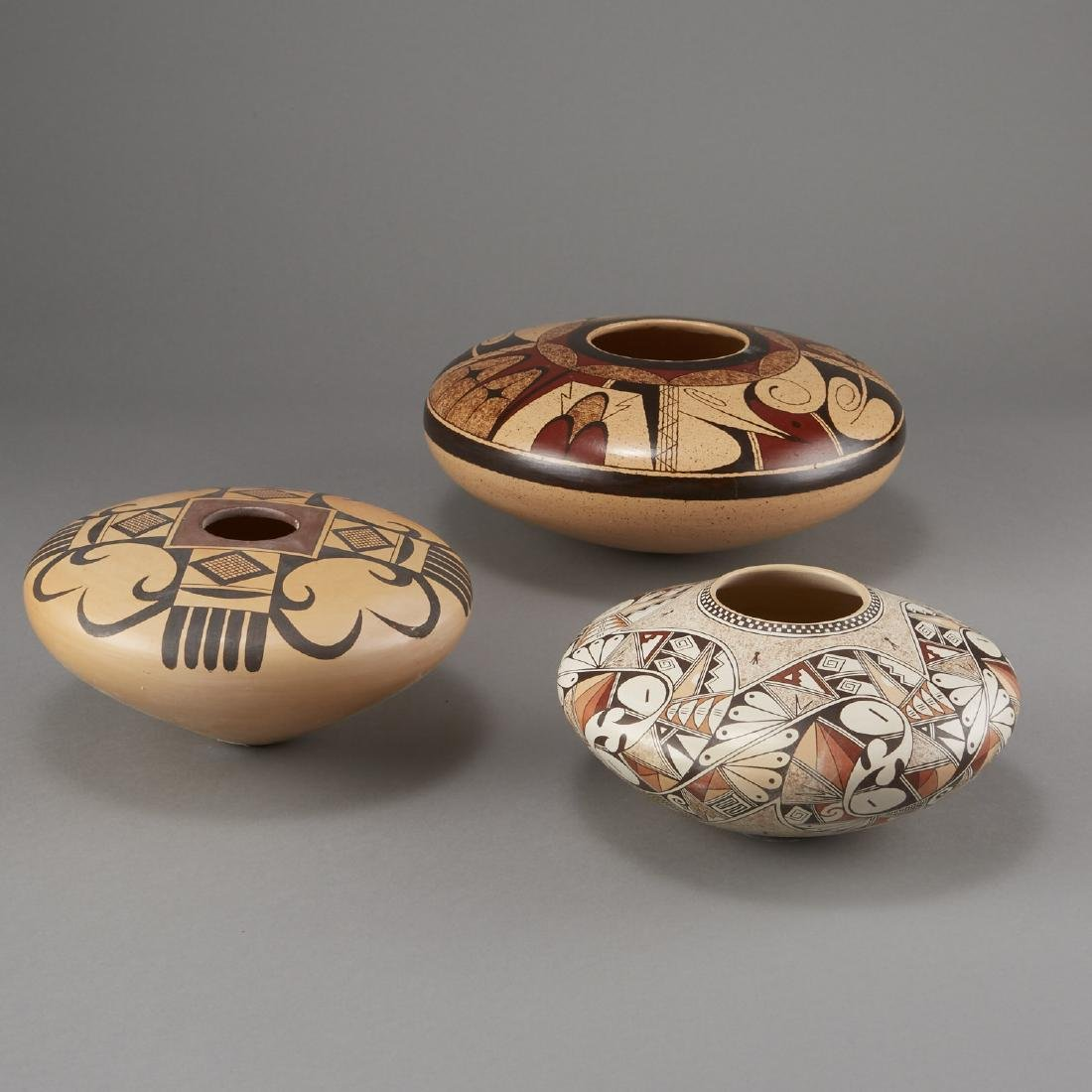 3 Fawn Navasie, Setalla, and Rainy Naha Hopi Pottery - 4