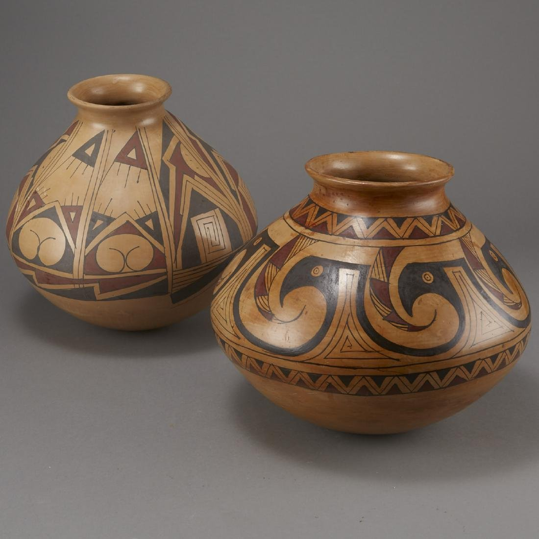 Two Large Signed Mata Ortiz Pottery Jars