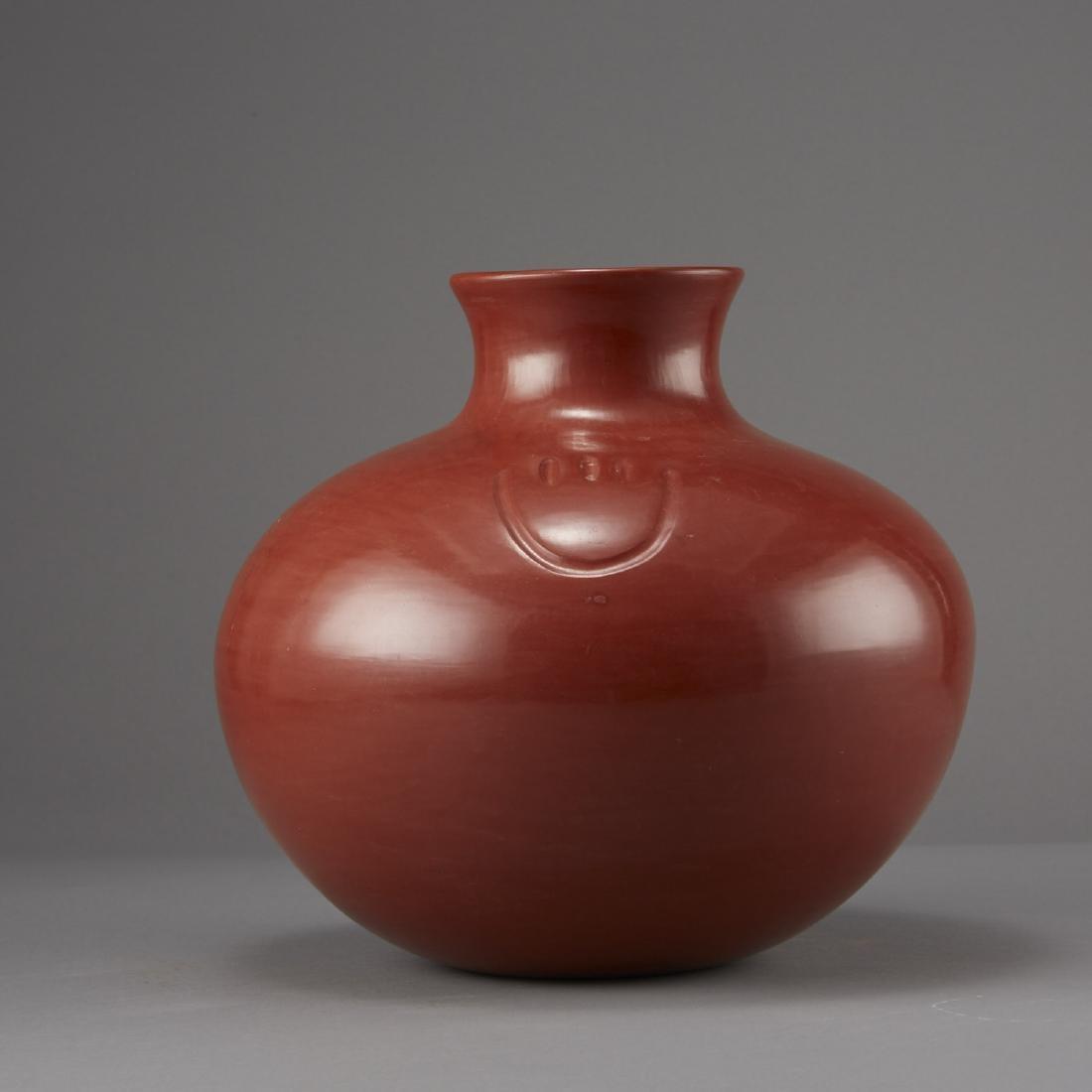 Tina Garcia Santa Clara Redware Jar - 2