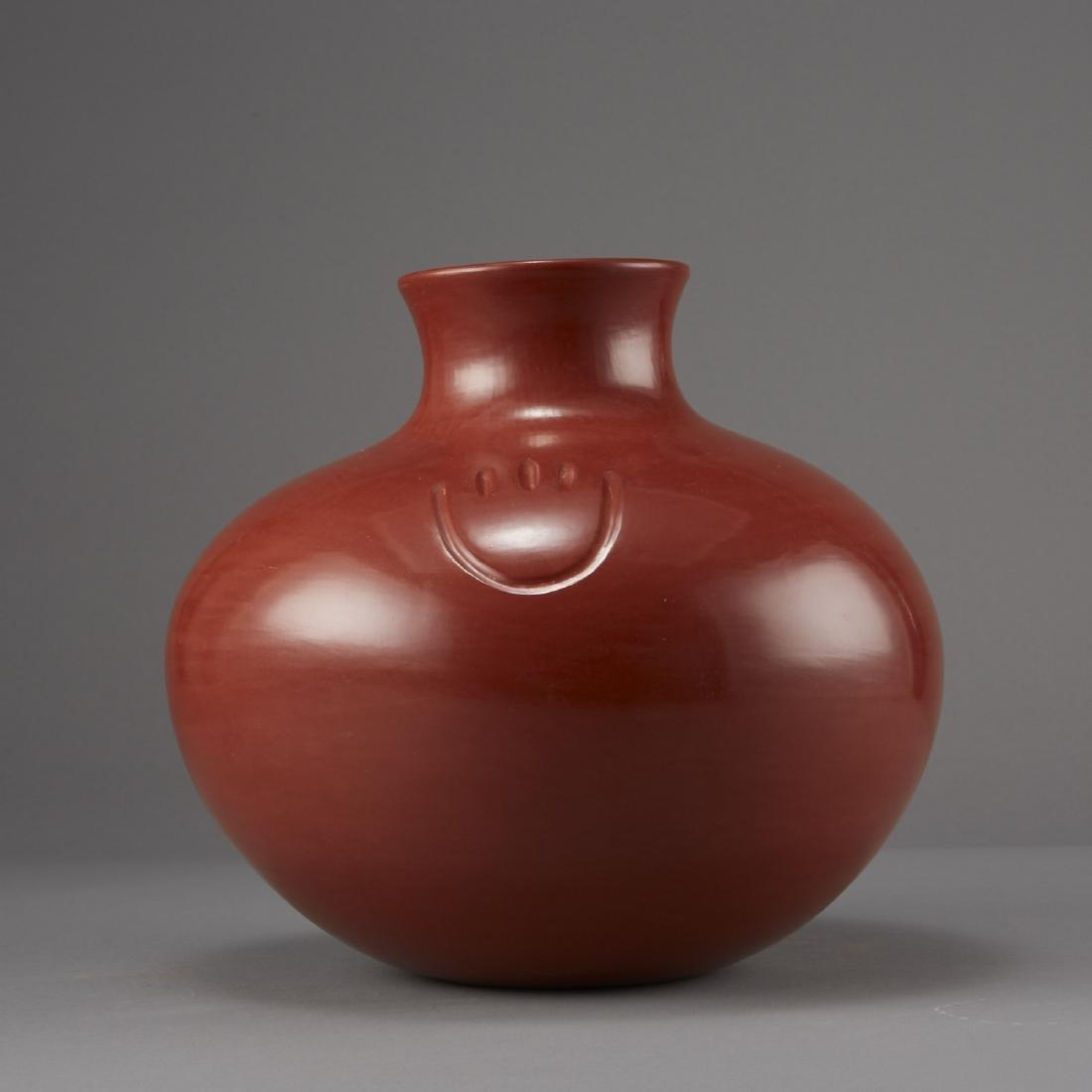 Tina Garcia Santa Clara Redware Jar - 3