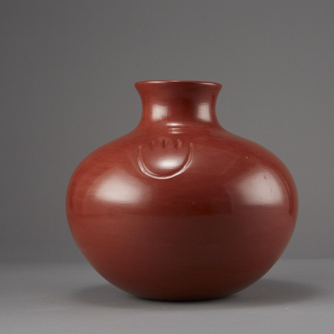 Tina Garcia Santa Clara Redware Jar - 4