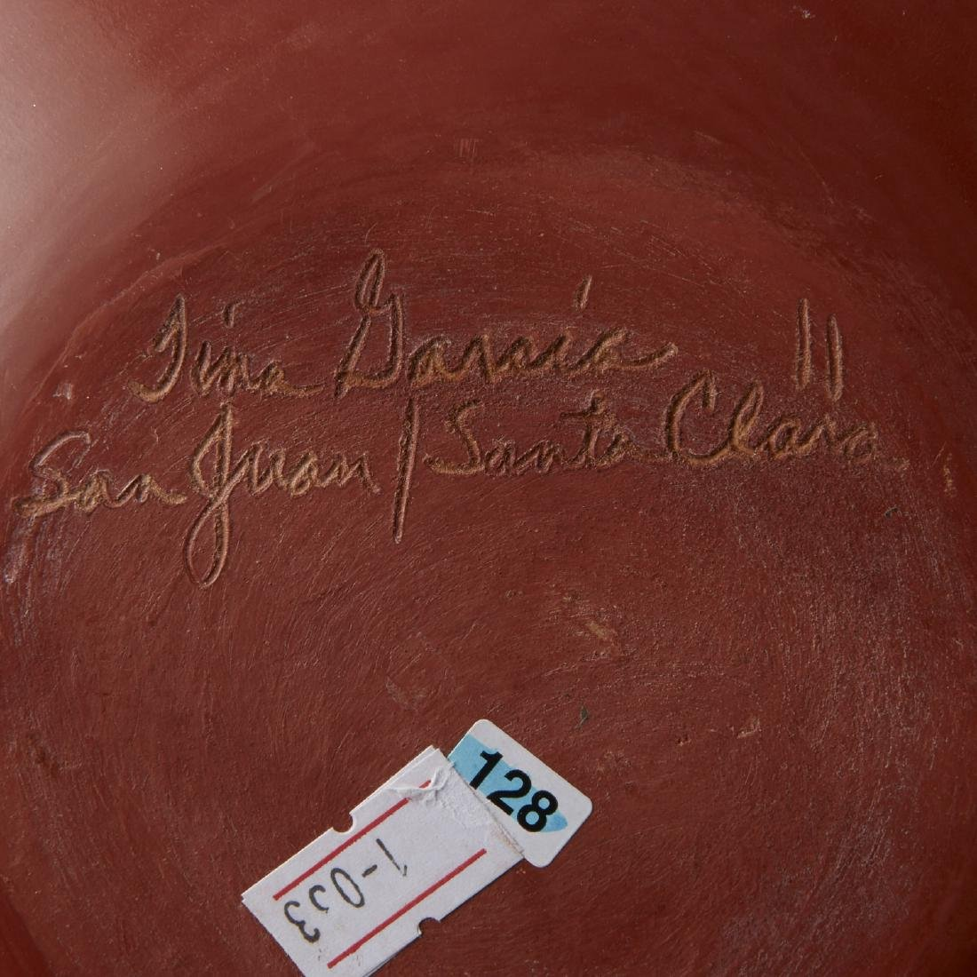 Tina Garcia Santa Clara Redware Jar - 5