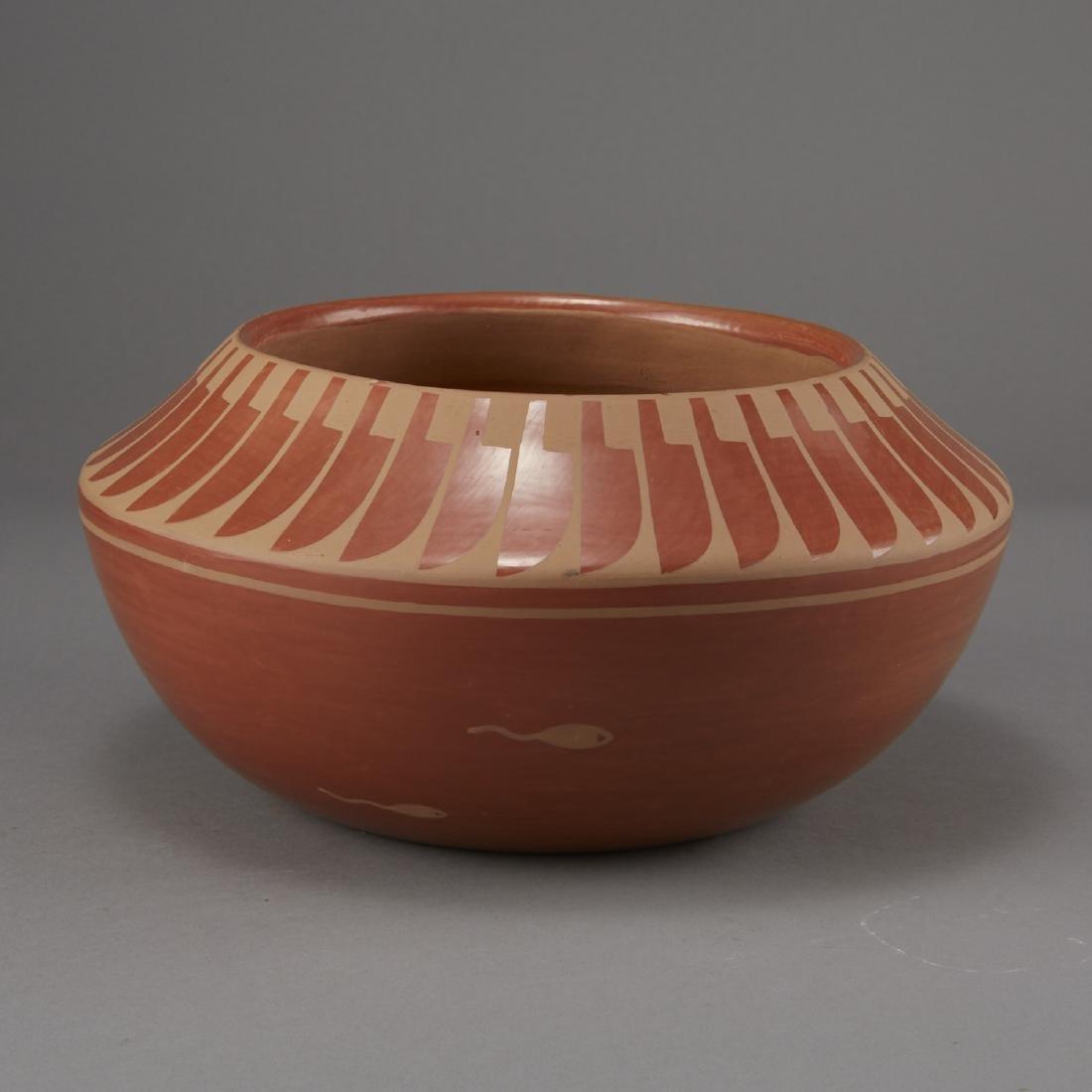 Blue Corn Redware San Ildefonso Pottery - 2