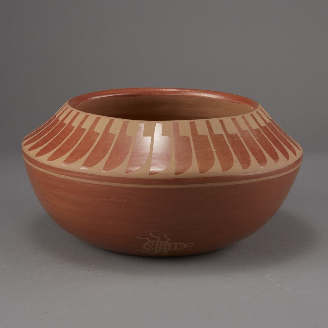 Blue Corn Redware San Ildefonso Pottery - 3
