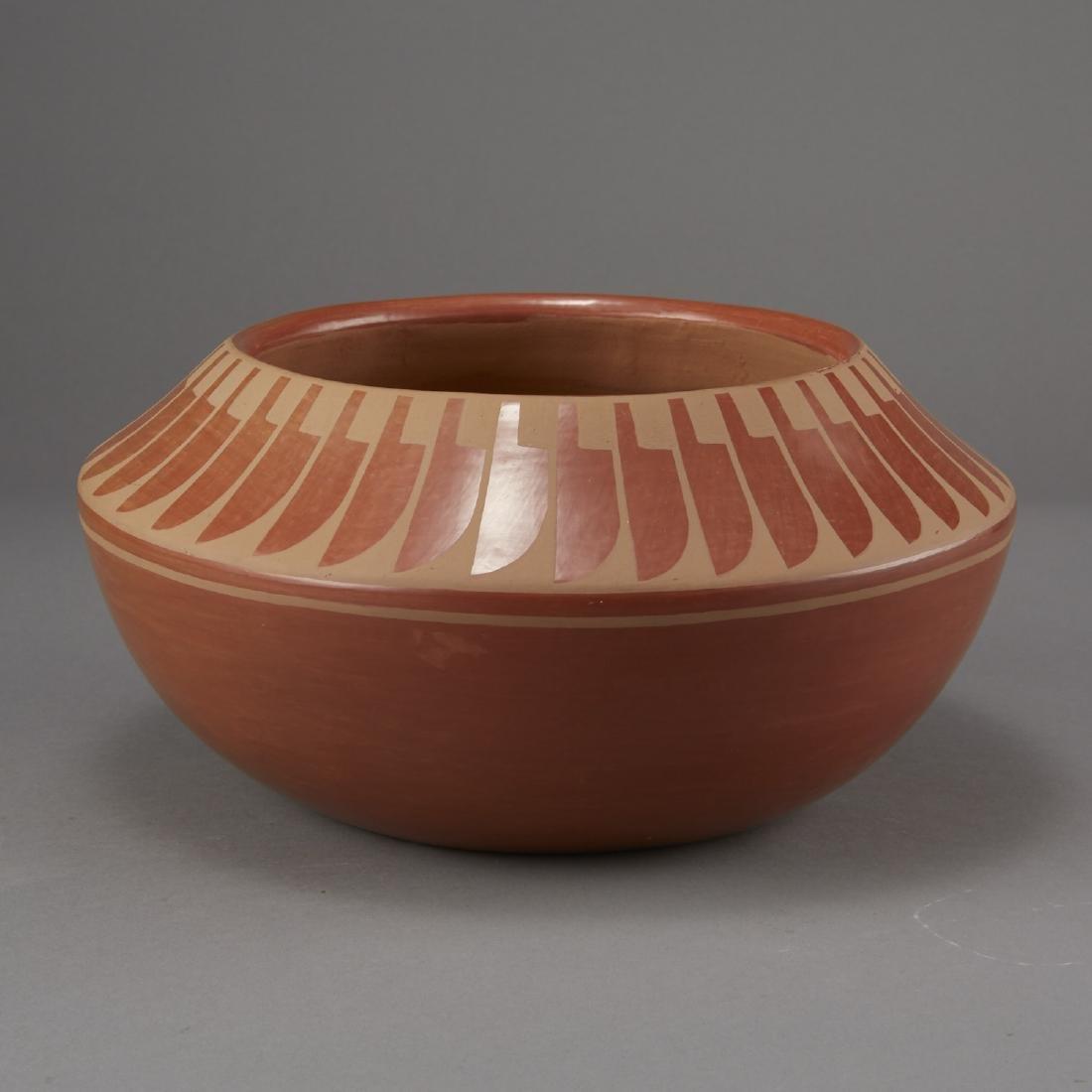 Blue Corn Redware San Ildefonso Pottery - 4