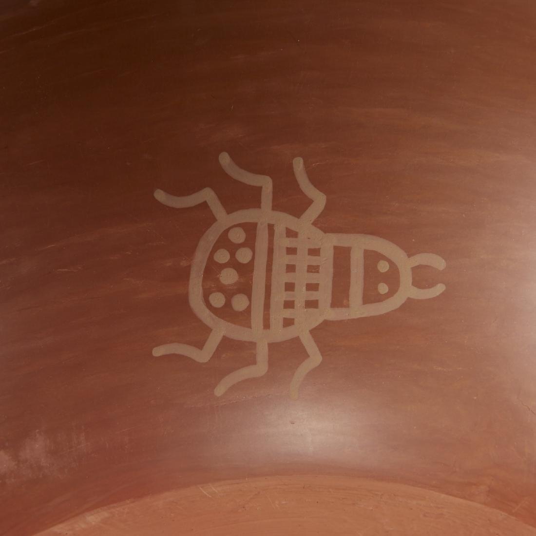 Blue Corn Redware San Ildefonso Pottery - 6