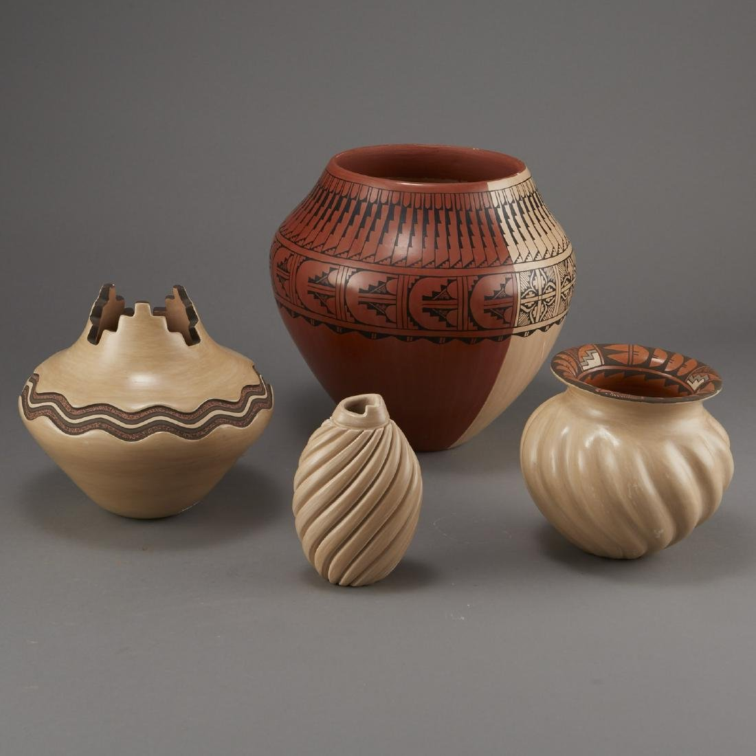 Group of Jemez Pottery Yepa and Fragua